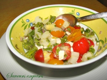 Salade d'asperges à la feta saveurs exquises canal blog