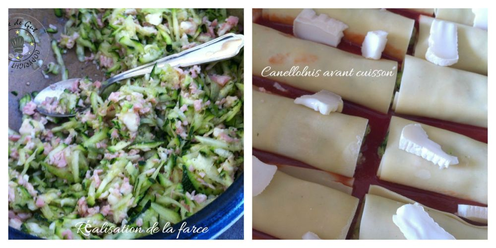 Canellonis courgettes jambon collage