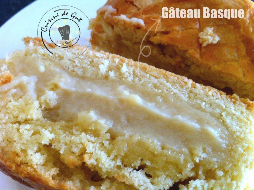 Gâteau basque tranche