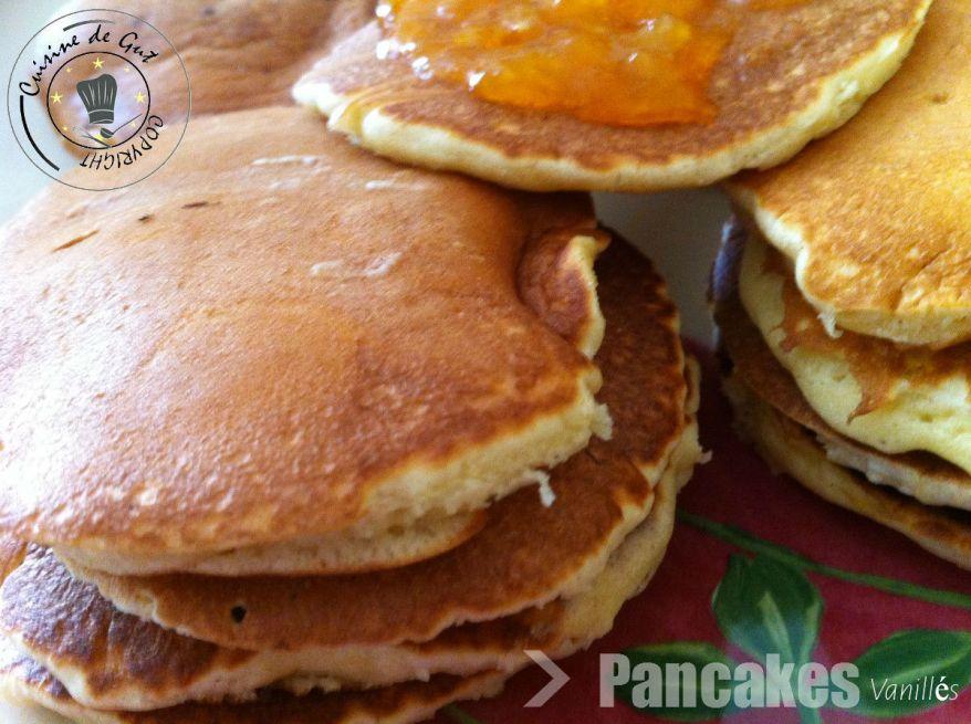 Pancakes vanillés L