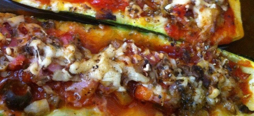 Courgettes pizza accueil