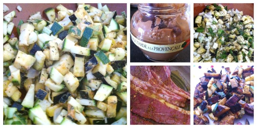 Plancha de légumes moutarde provençale