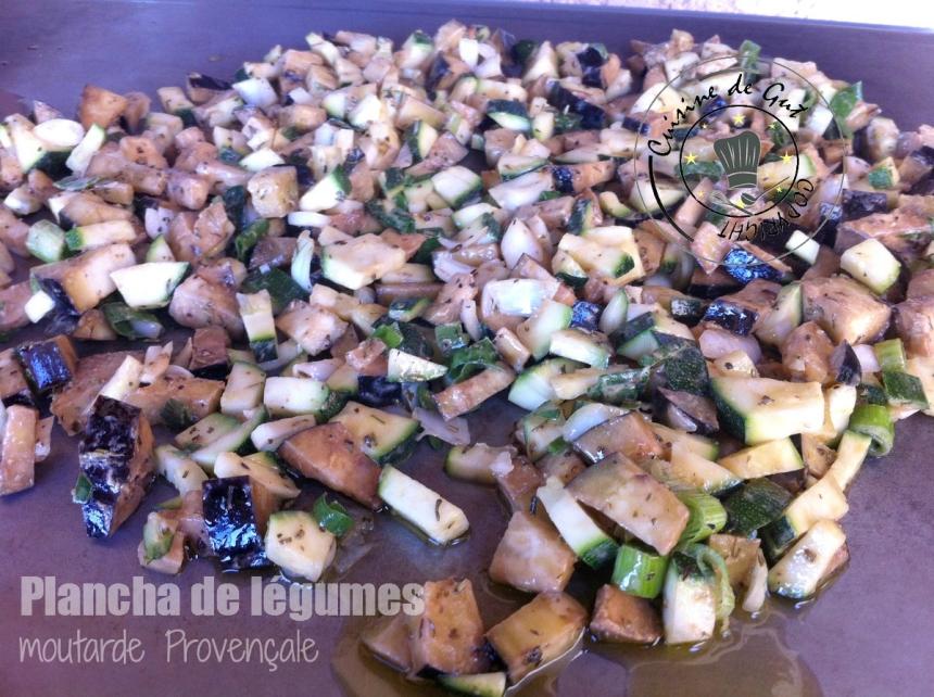Plancha de légumes moutarde provençale1
