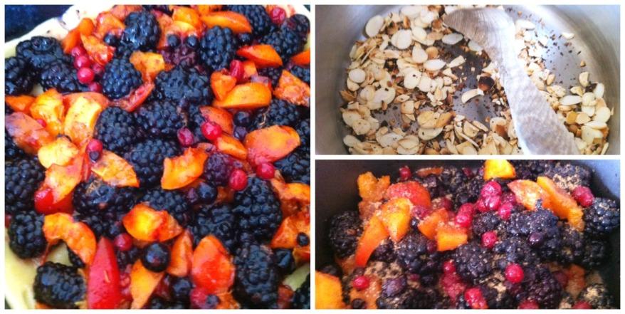 Amandine aux fruits collage