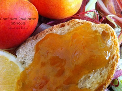 Confiture Rhubarbe abricots 3
