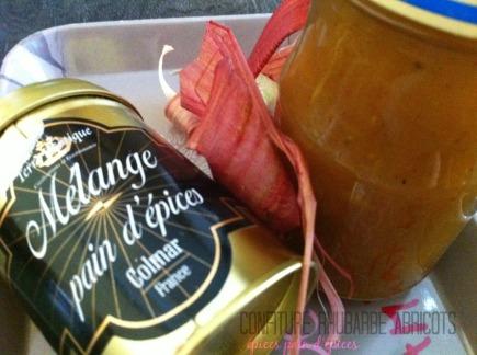 Confiture rhubarbe abricots épices pain d'épices2