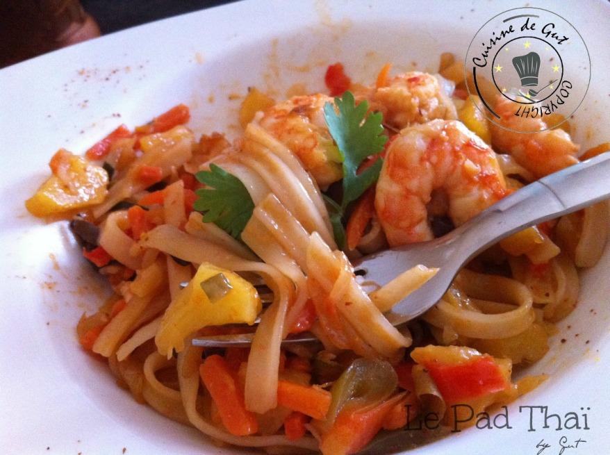 Crevettes pad thaï 2
