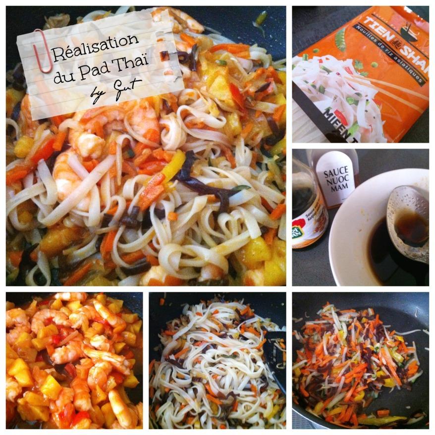 Crevettes Pad Thai réalisation