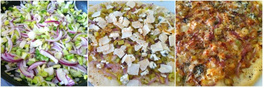 Pizza Poireaux céleri 3 fromages