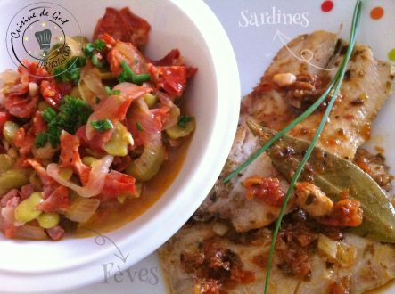 Sardines et fèves
