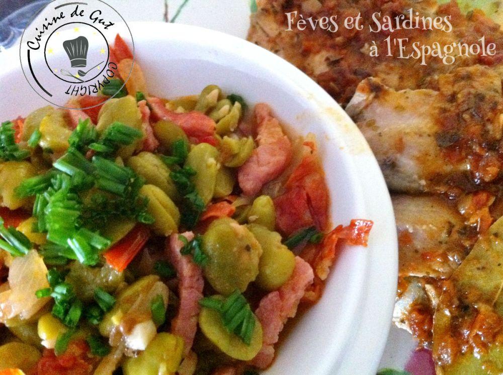 Sardines et fèves à l'espagnole2