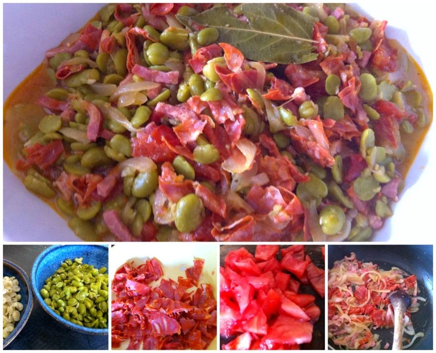 Sardines et fèves préparation fèves