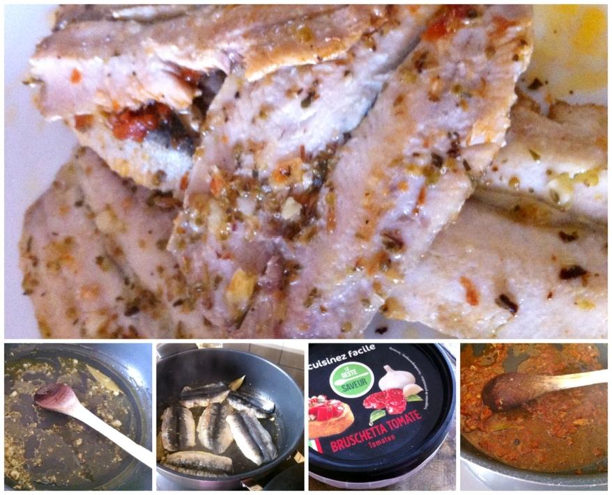 Sardines et fèves préparation sardines
