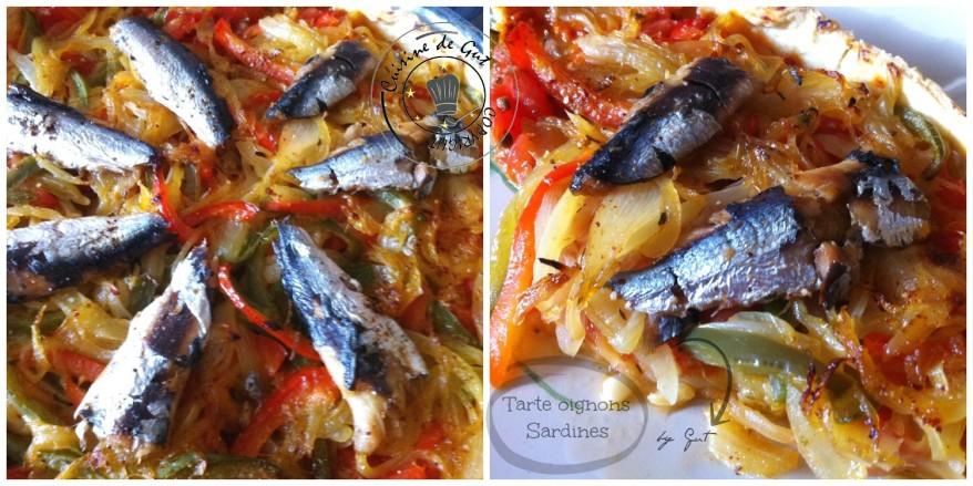 Tarte oignons sardines cuite