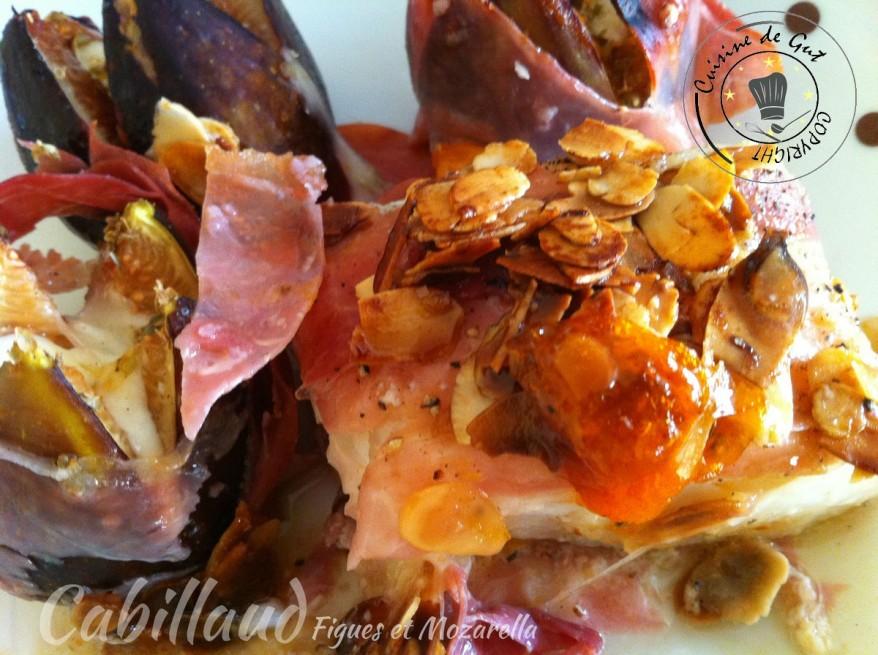 Cabillaud figues et mozzarella1