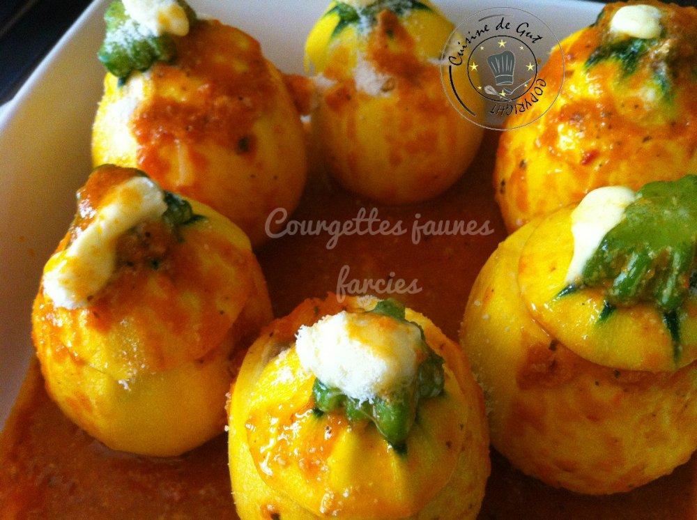 Courgettes jaunes farcies 2