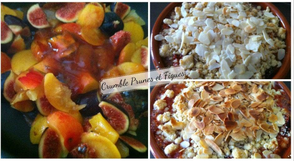 Crumble prunes et figues
