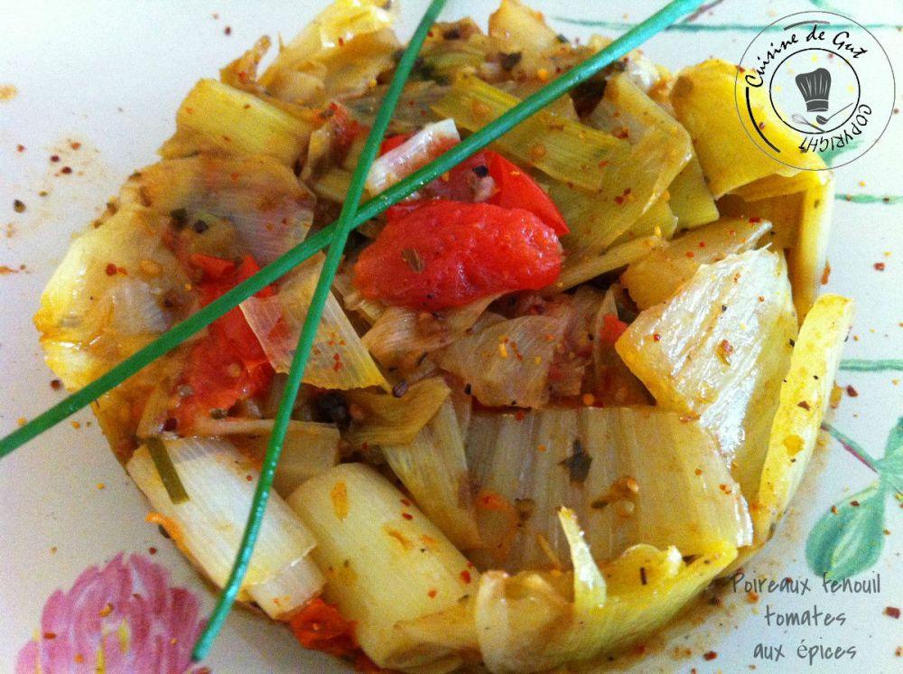 Poireaux fenouil tomates aux épices 1