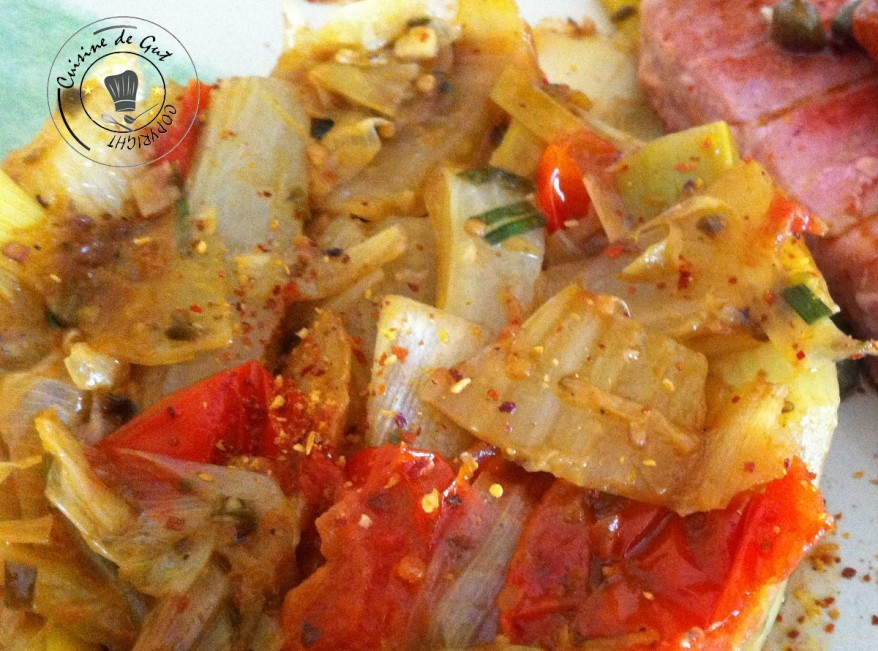 Poireaux fenouil tomates aux épices 2