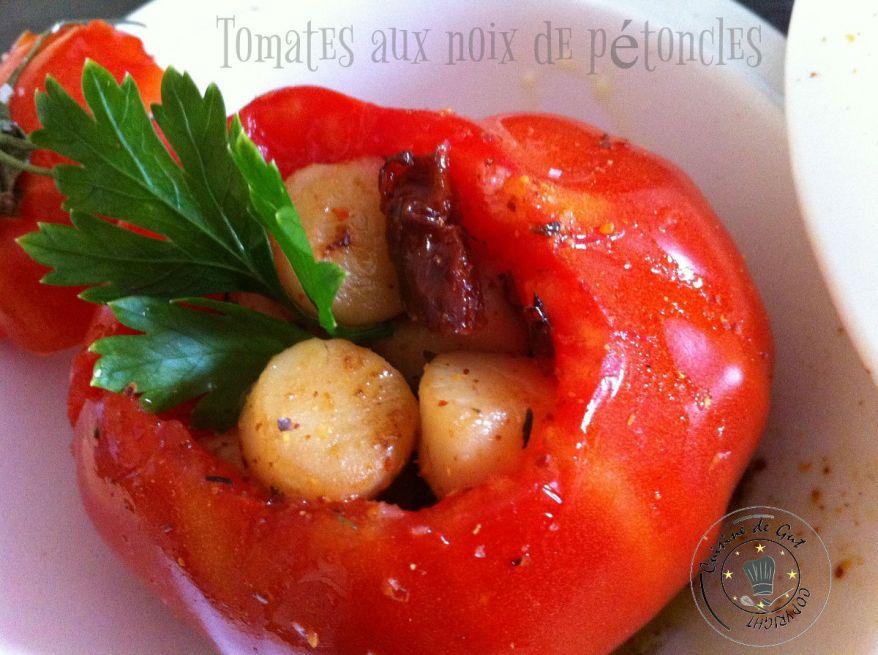 Tomates aux noix de pétoncles