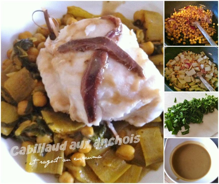 Cabillaud aux anchois et ragoût curcuma 2