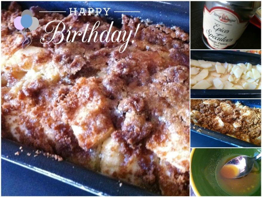 Cake gratiné pommes et spéculoos