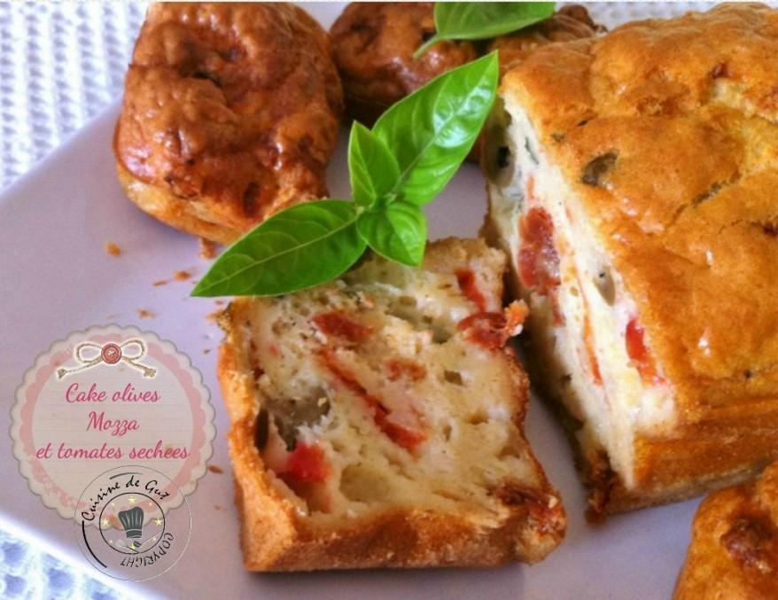 Cake Olives mozza et tomates séchées1