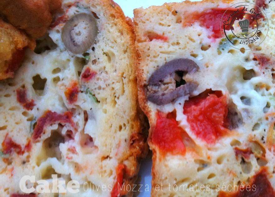 Cake Olives mozza et tomates séchées3