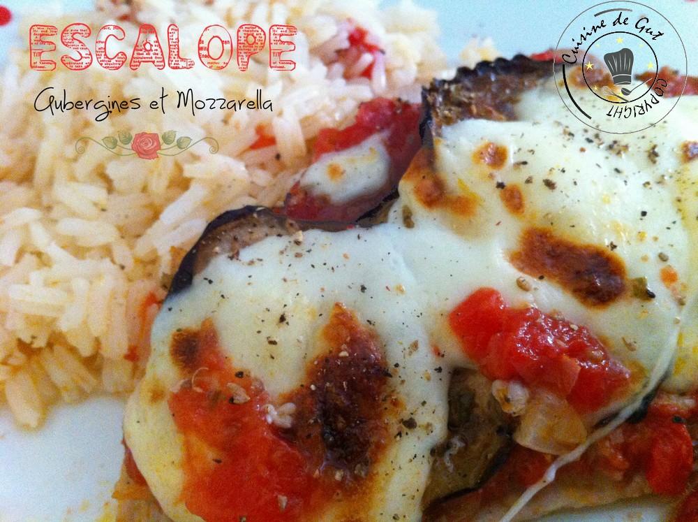 Escalope aubergines et mozzarella1