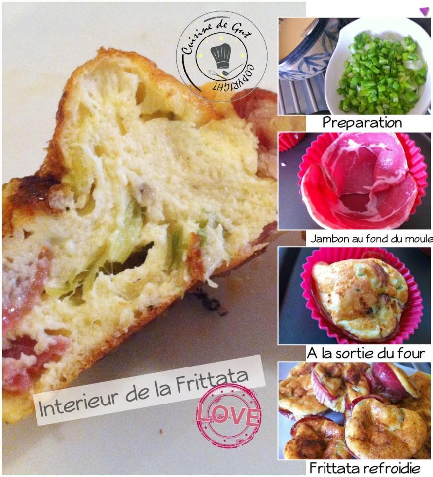 Frittata jambon parmesan et cébette2