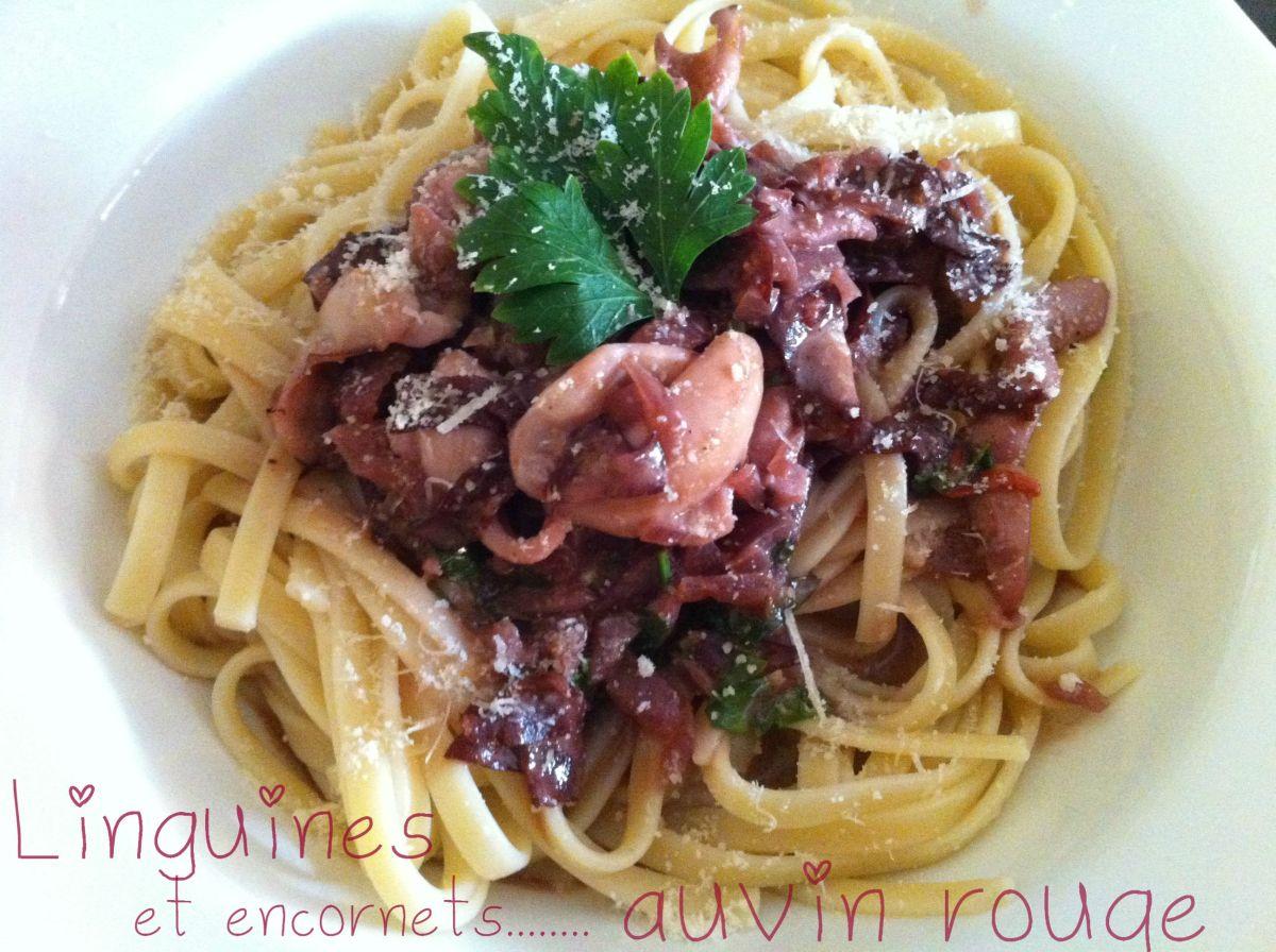 Linguines et encornets au vin rouge cuisine de gut for Vin rouge cuisine