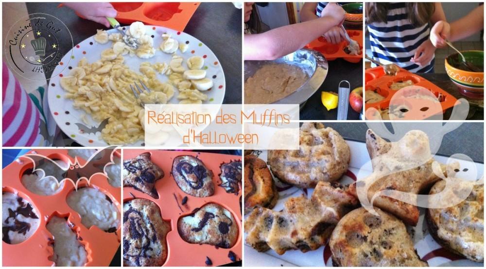 Muffins d'Halloween réalisation