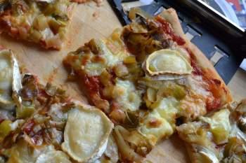 Pizzachèvre et poireaux MANUE