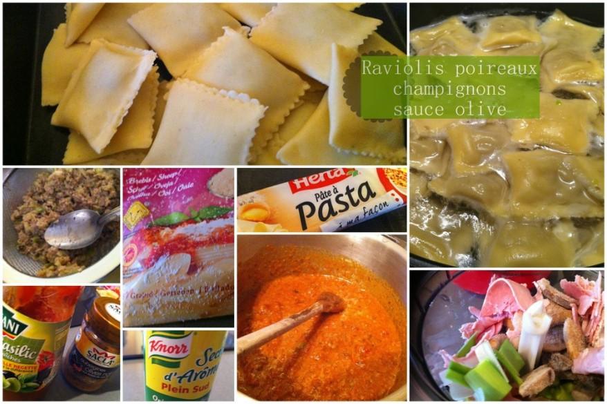 Raviolis poireaux champignons 2