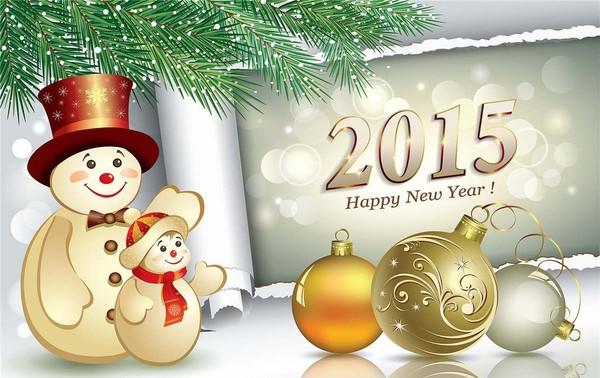 Bonne année 2015 Bonhomme