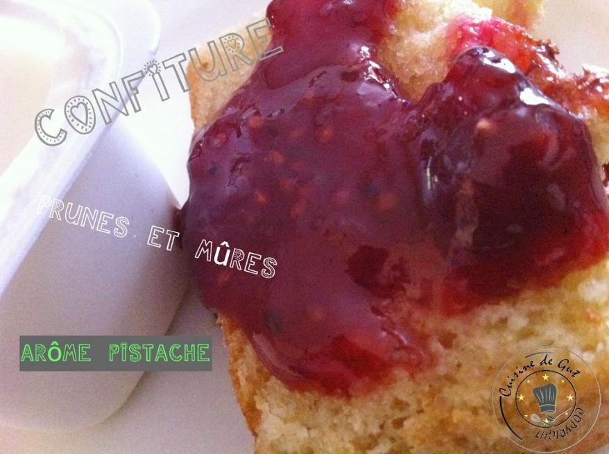 Confiture de Prunes et Mûres arome pistache2jpg