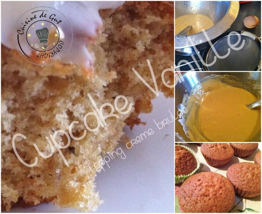 Cupcake vanille Topping creme brulee 2