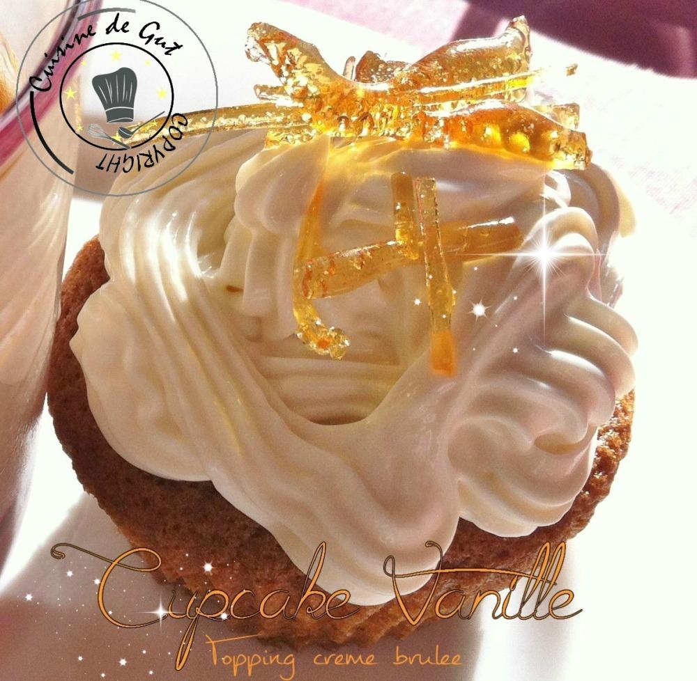 Cupcake Vanille topping creme brulee