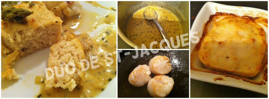 Duo de St-Jacques sauce estragon 2
