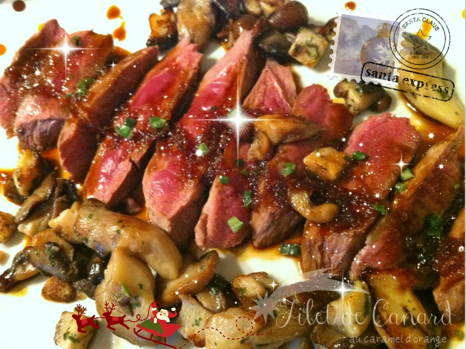 Filet de Canard caramel d'orange 1