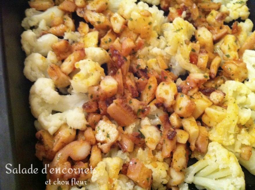 Salade d'encornets et chou fleur2
