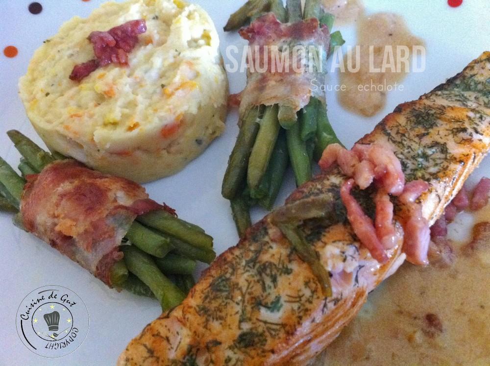 Saumon au Lard sauce échalote
