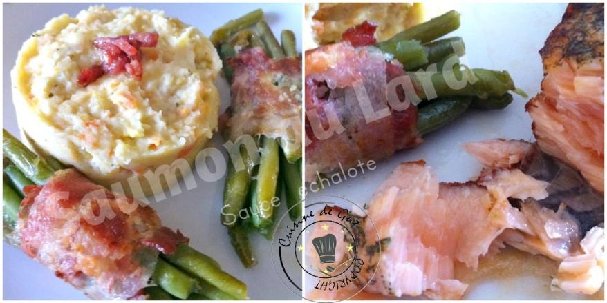 Saumon au Lard sauce échalote2