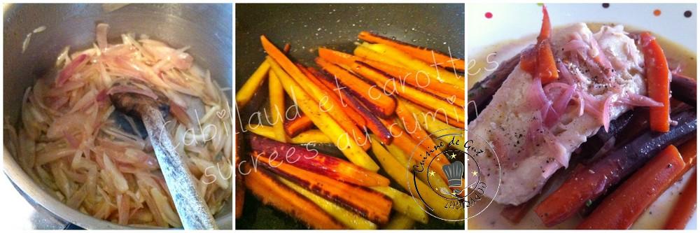 Cabillaud et carottes sucrées au cumin 2