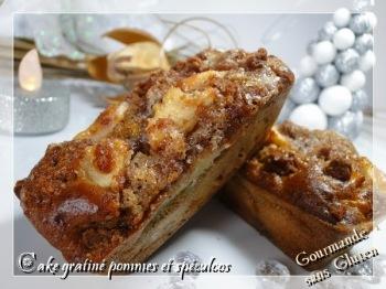 cake gratiné pomme spéculoos gourmande sans gluten