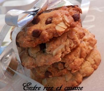Cookies amandes et chocolat blanc Chrystel