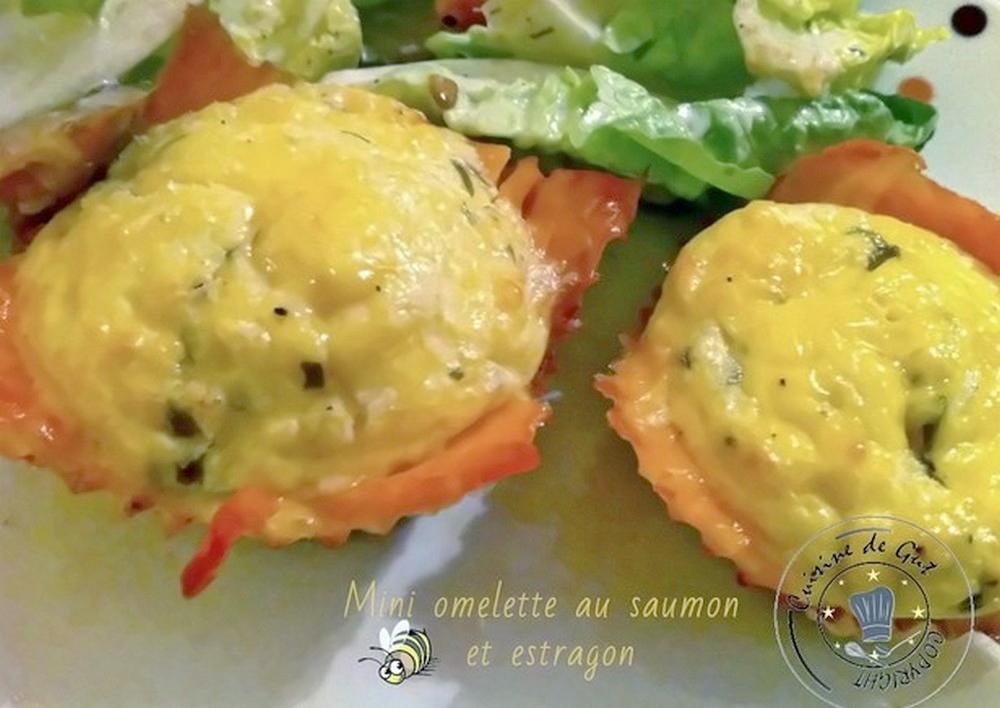 Mini omelette saumon estragon après cuisson