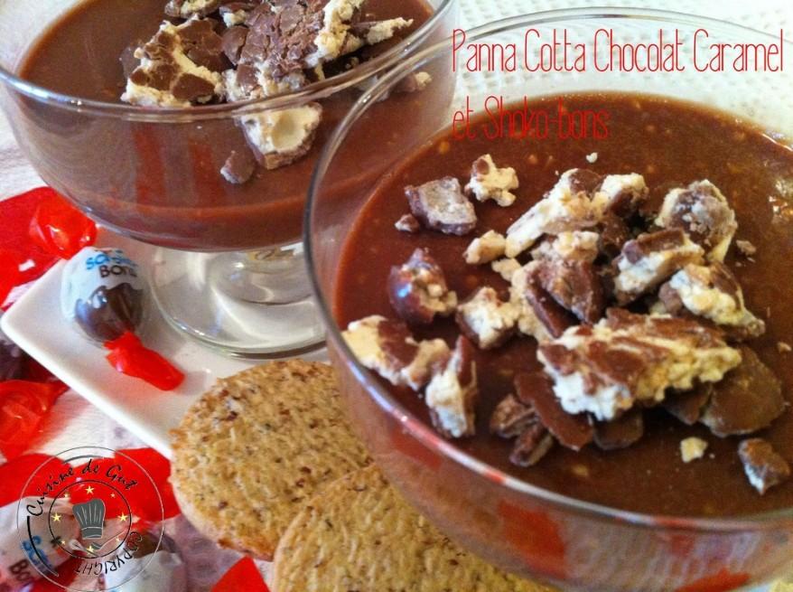 Panna cotta chocolat caramel et shoko bons1