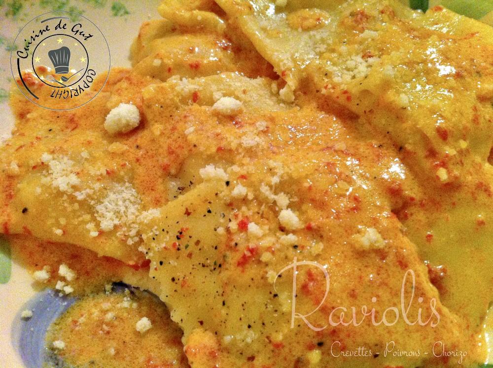 Raviolis Crevettes Poivrons Chorizo2