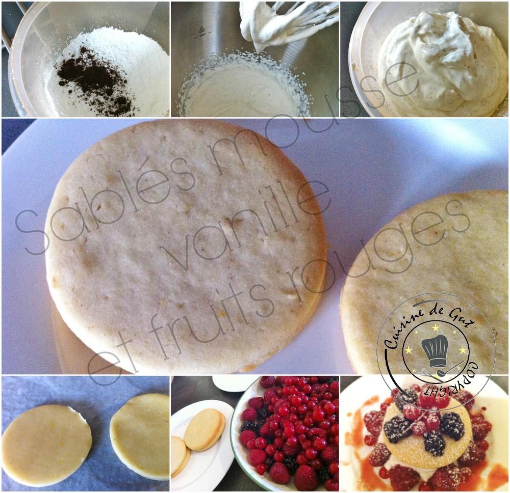 Sablés mousse vanille et fruits rouges. 2jpg
